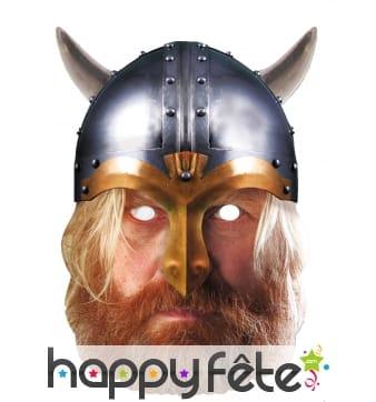 Masque de Viking en carton