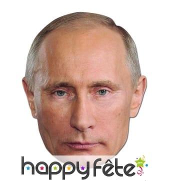 Masque de Vladimir poutine en carton plat