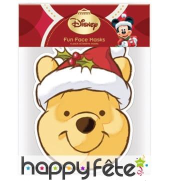 Masque de Winnie l'ourson père Noël