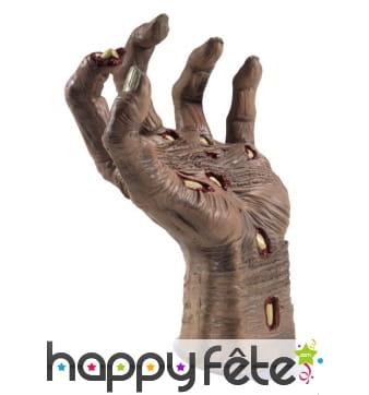 Main de zombie coupée en latex