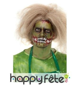 Maquillage de zombie par transfert pour adulte