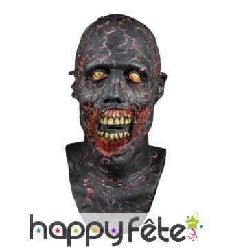 Masque de zombie carbonisé