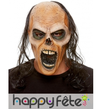 Masque de zombie chauve en latex intégral