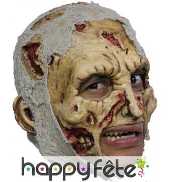 Masque de zombie décomposé, ouverture de bouche