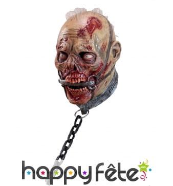 Masque de zombie enchainé intégral