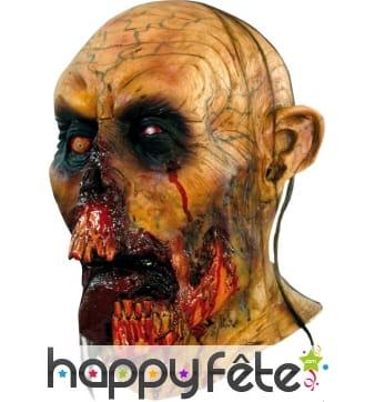 Masque de zombie mâchoire ensanglantée