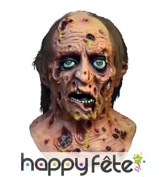 Masque de zombie malade infecté