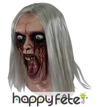 Masque de zombie yeux en sang, adulte