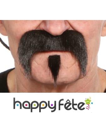 Moustaches et bouc cow boy noirs