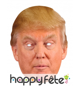 Masque en carton de Donald Trump USA