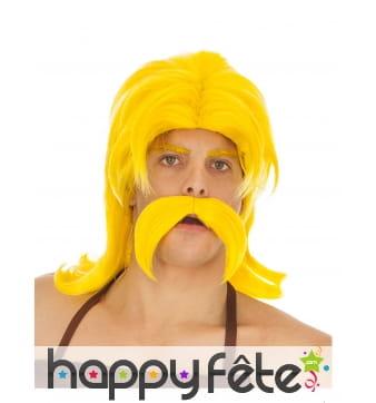 Moustache et perruque de Cétautomatix pour homme