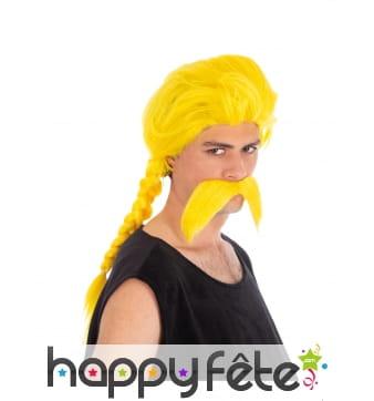 Moustache et perruque de Ordralphabétix pour homme