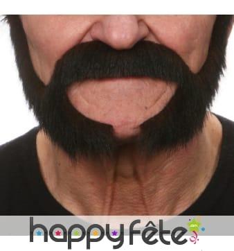 Moustaches et rouflaquettes brunes