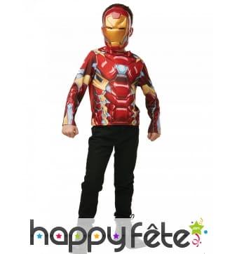 Masque et T-shirt de Iron Man pour enfant