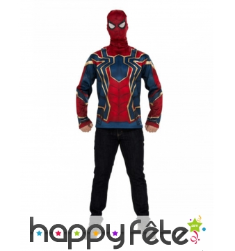 Masque et T-shirt de Iron Spiderman, adulte