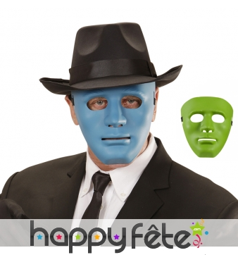 Masque facial coloré d'anonyme