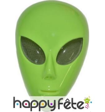 Masque facial d'alien vert