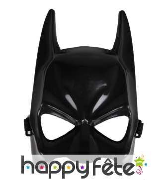 Masque facial de Batman noir, adulte