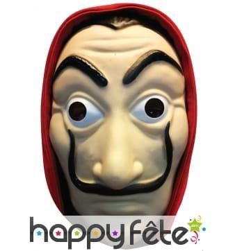 Masque facial de célèbre braqueur, en carton