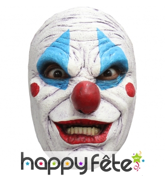 Masque facial de clown tueur en latex