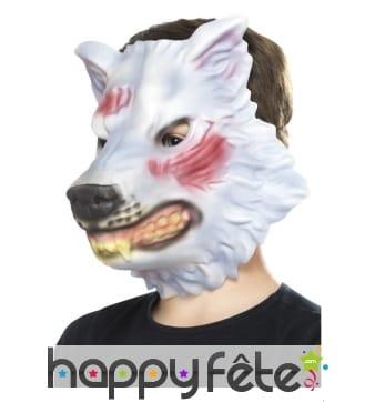 Masque facial de loup pour enfant
