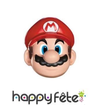 Masque facial de Mario taille adulte
