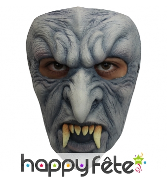 Masque facial de monstre vampire en latex