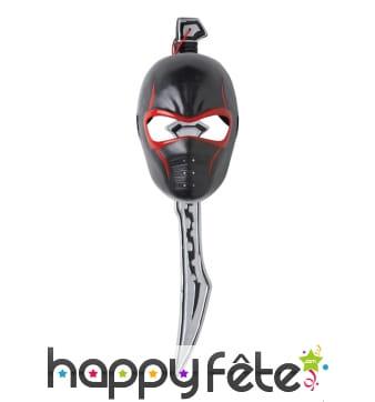 Masque facial de ninja manga avec épée