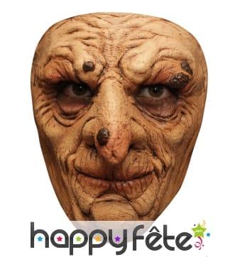 Masque facial de sorcier couvert de verrues
