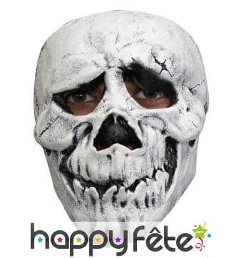 Masque facial de squelette, en latex