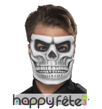 Masque facial de squelette, mâchoire mobile