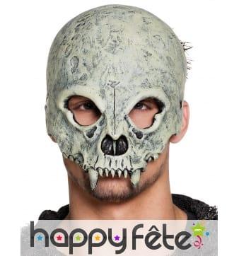 Masque facial de squelette vampire