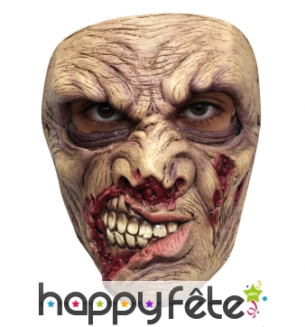Masque facial de zombie sanguinaire