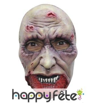 Masque faciale de zombie en latex