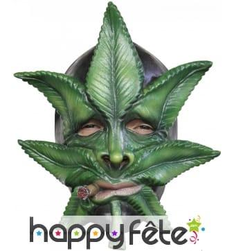 Masque feuille de cannabis en latex souple