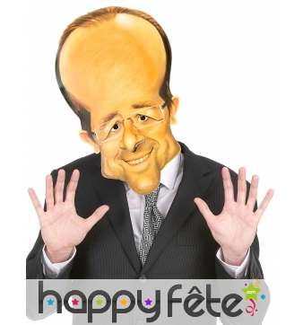 Masque francois hollande caricature