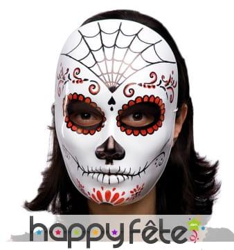 Masque facial jour des morts, pvc