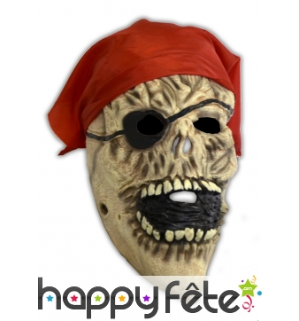 Masque facial monstre pirate et bandeau