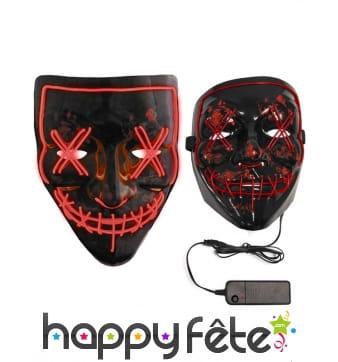 Masque facial noir led pour adulte
