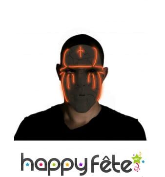 Masque facial noir lumineux pour adulte