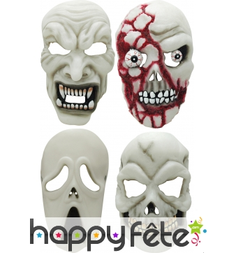Masque facial phosphorescent halloween