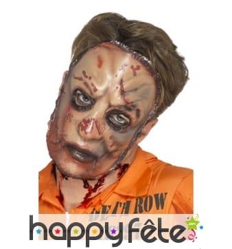 Masque facial visage de zombie