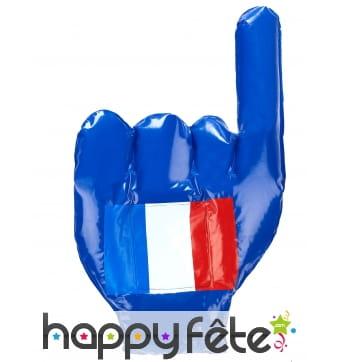 Main géante France à gonfler