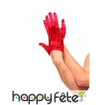 Mini gants rouges pour femme