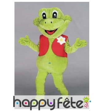 Mascotte grenouille verte