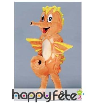 Mascotte hippocampe orange