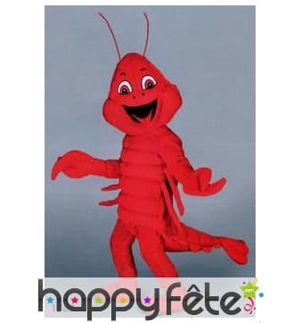 Mascotte homard rouge