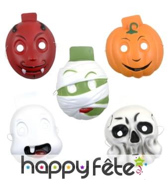 Masques Halloween rigolo en mousse, pour enfant