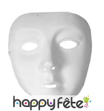 Masque intégralement blanc pour enfant