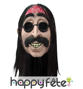 Masque intégral d'homme hippe à long cheveux